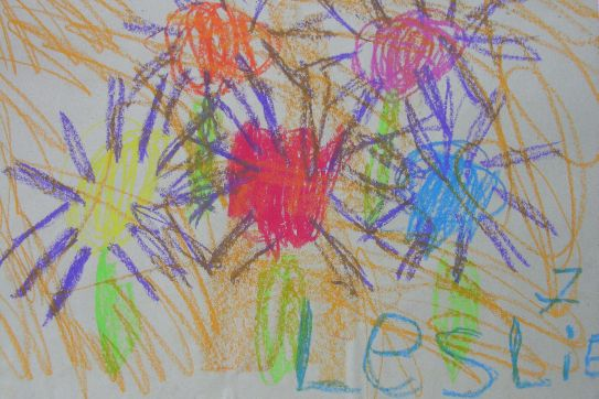 Gemalte Kinderbilder aktionskunst kindermalen kinderbild blumen gemalt leslie